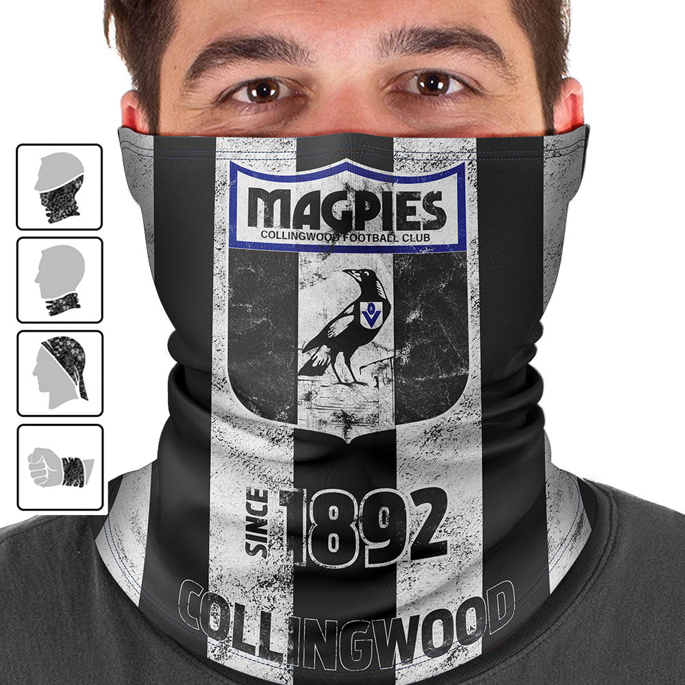 AFL Collingwood Magpies Heritage Multi-Purpose Bandana