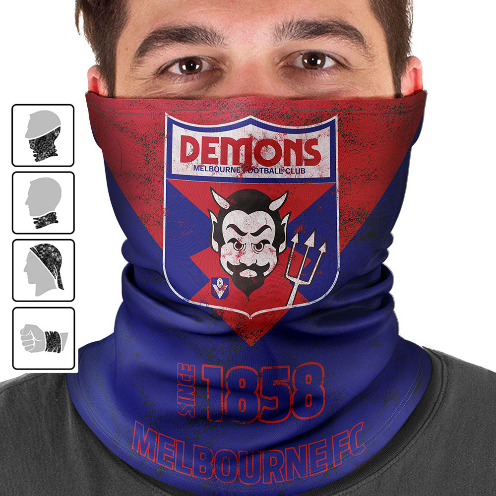 AFL Melbourne Demons Heritage Multi-Purpose Bandana