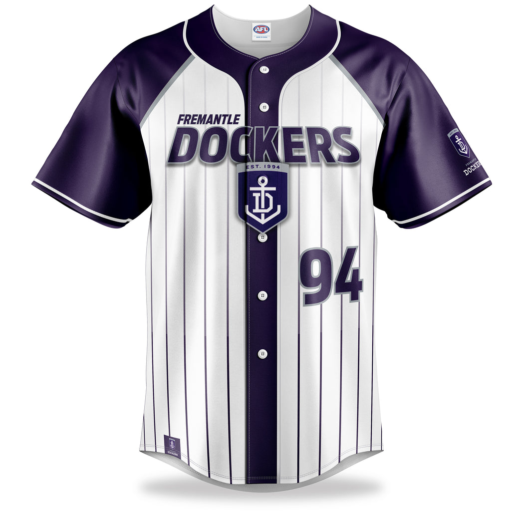 AFL Fremantle Dockers Baseball Shirts