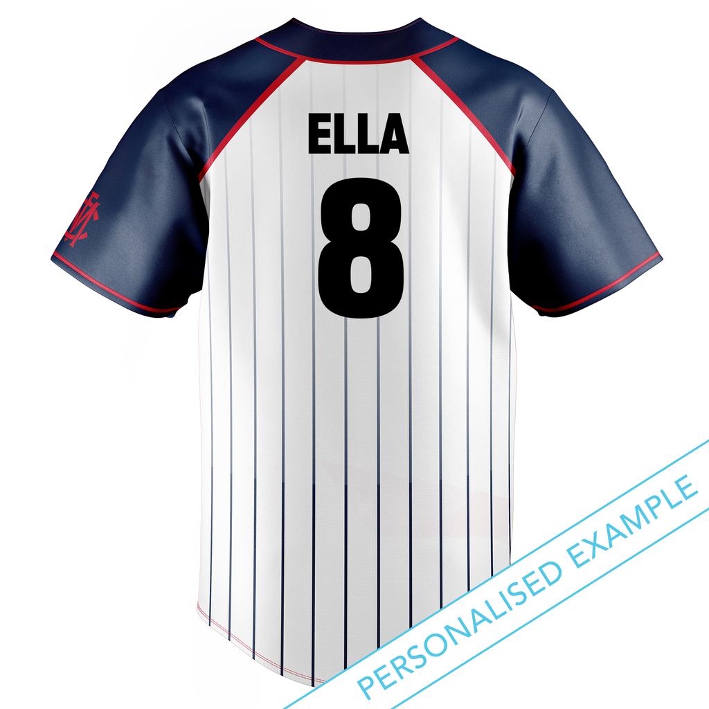 AFL Melbourne Demons Baseball Shirts