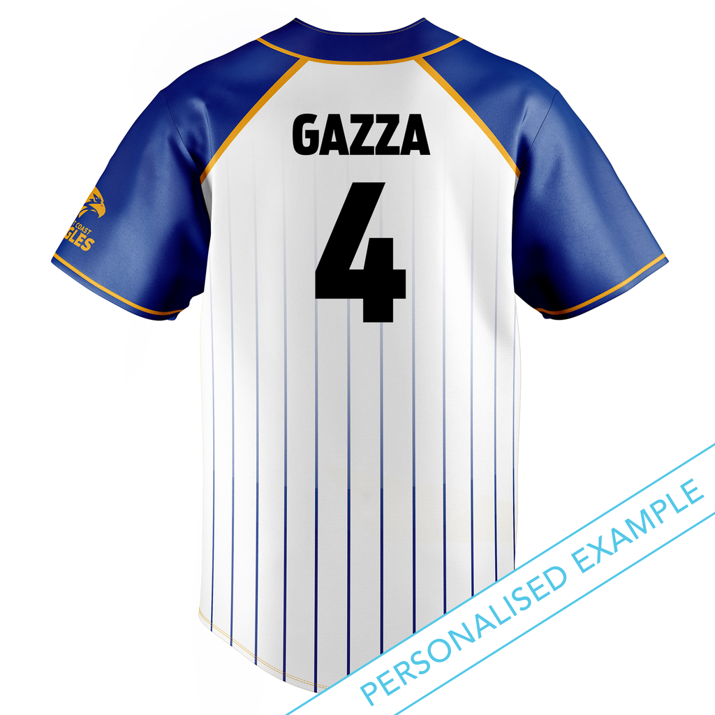 AFL West Coast Eagles Baseball Shirts