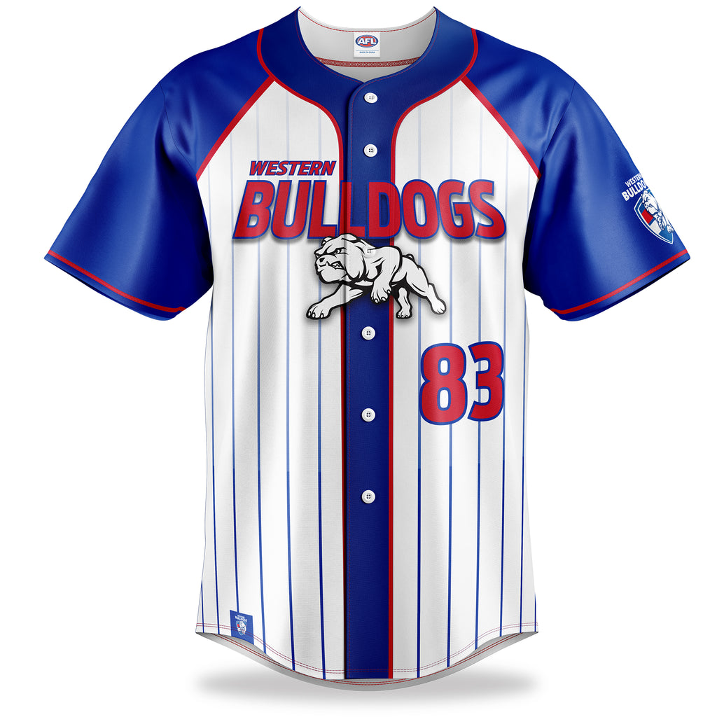 AFL Western Bulldogs Baseball Shirts