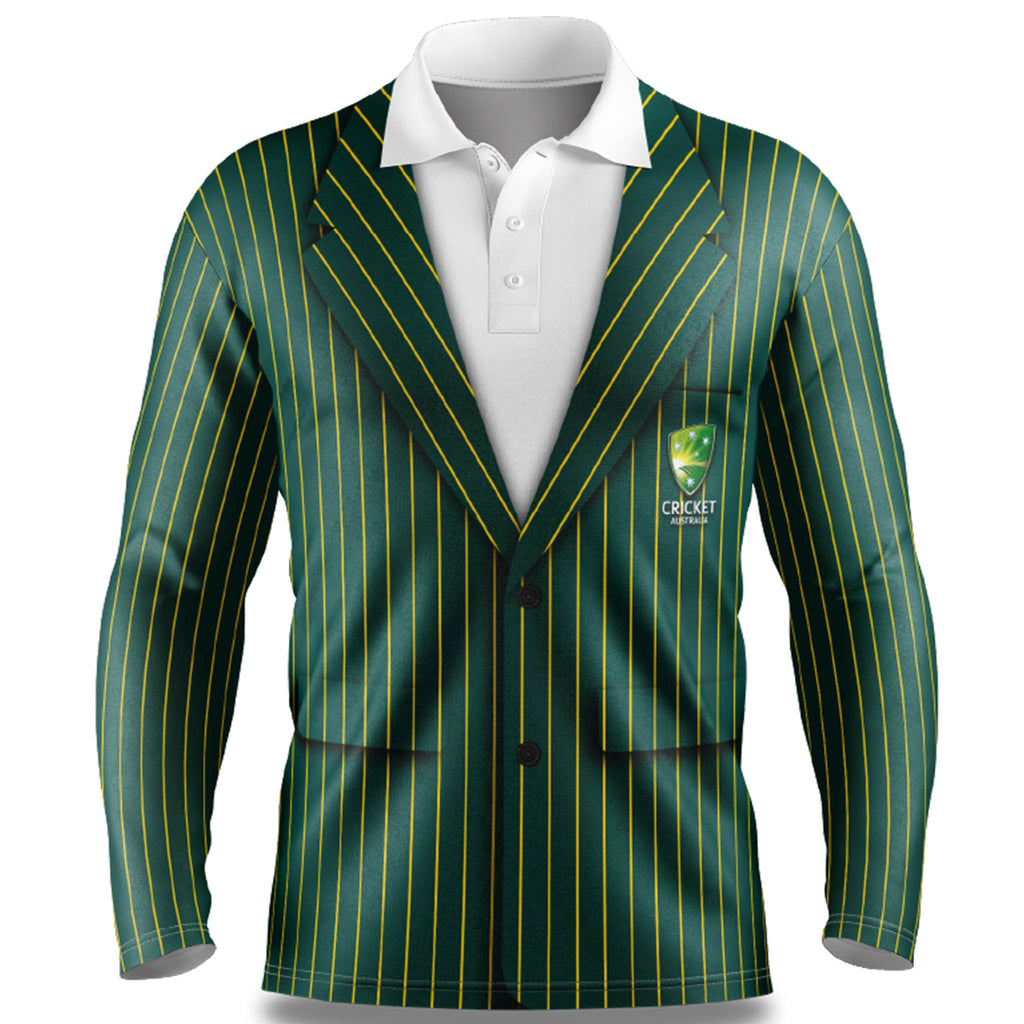 Cricket Australia Blazer LS Sun Shirt - Adult