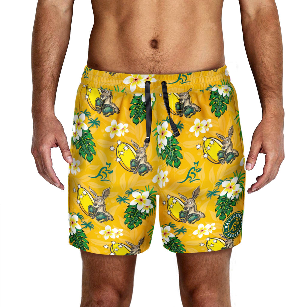 "Wallabies ""Boomer"" Hawaiian Shorts"