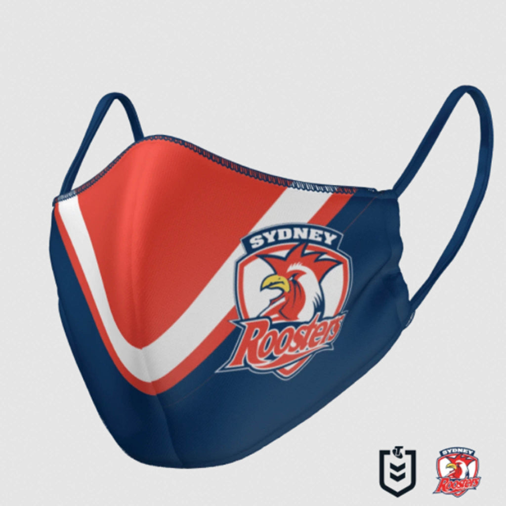 NRL Roosters Face Mask