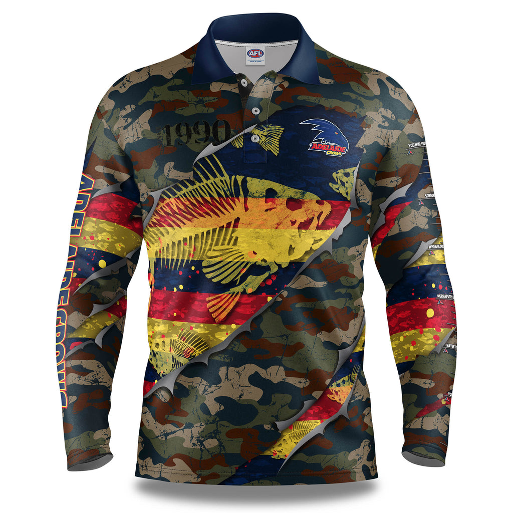 "AFL Adelaide Crows ""Skeletor"" Fishing Shirt - Youth"