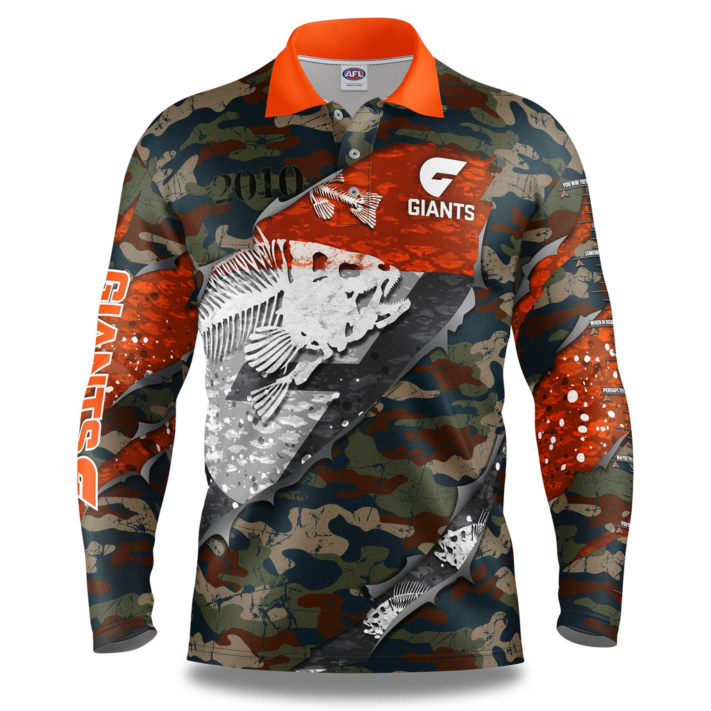 "AFL GWS Giants ""Skeletor"" Fishing Shirt - Adult"