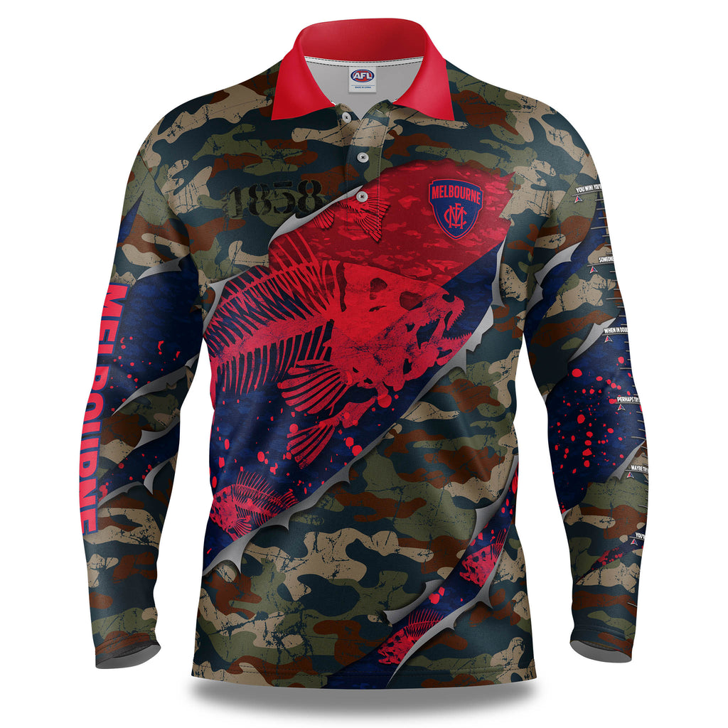 "AFL Melbourne Demons ""Skeletor"" Fishing Shirt - Adult"