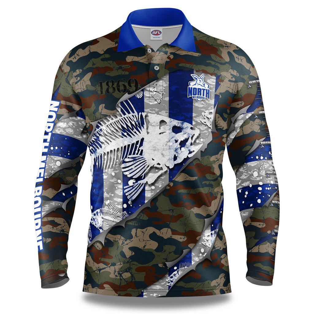 "AFL North Melbourne ""Skeletor"" Fishing Shirt - Adult"