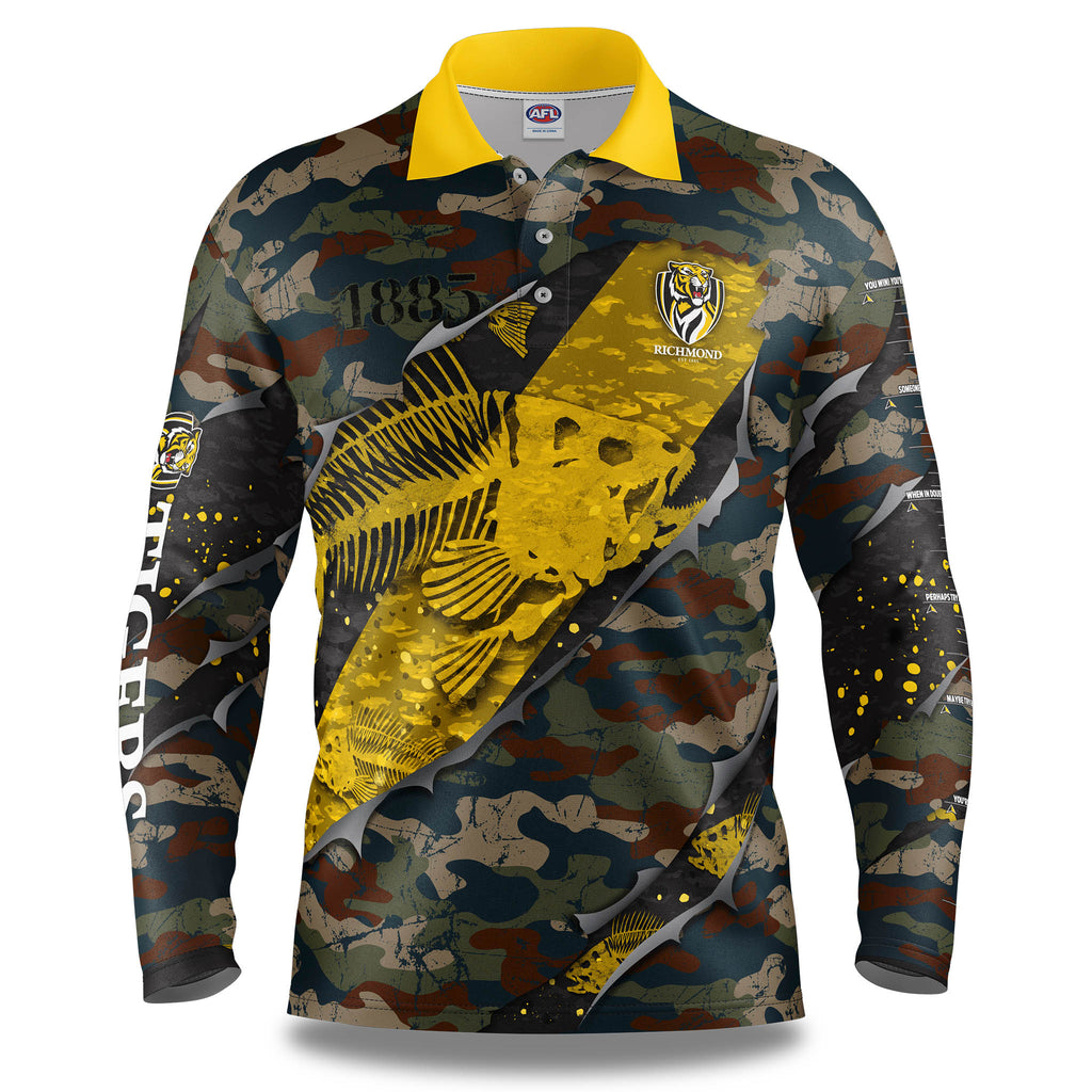 "AFL Richmond Tigers ""Skeletor"" Fishing Shirt - Adult"