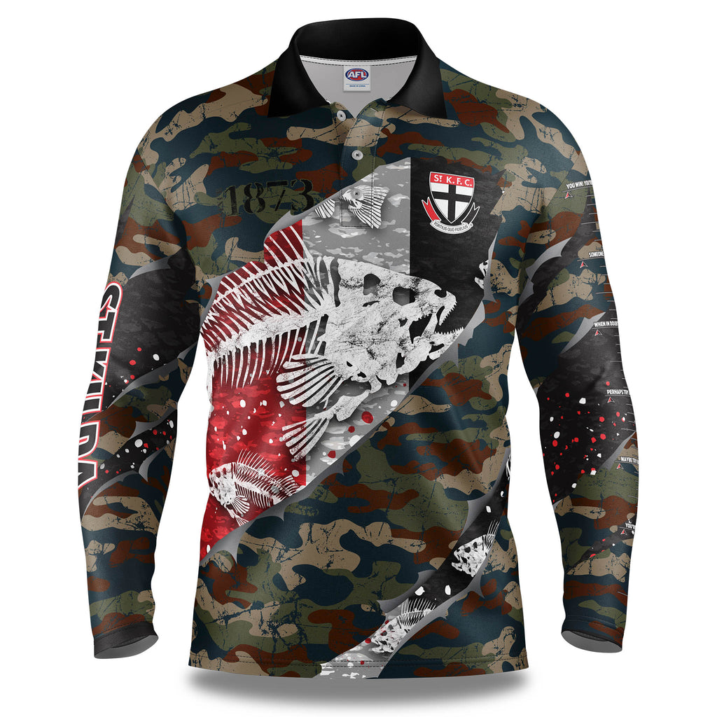 "AFL St Kilda ""Skeletor"" Fishing Shirt - Adult"