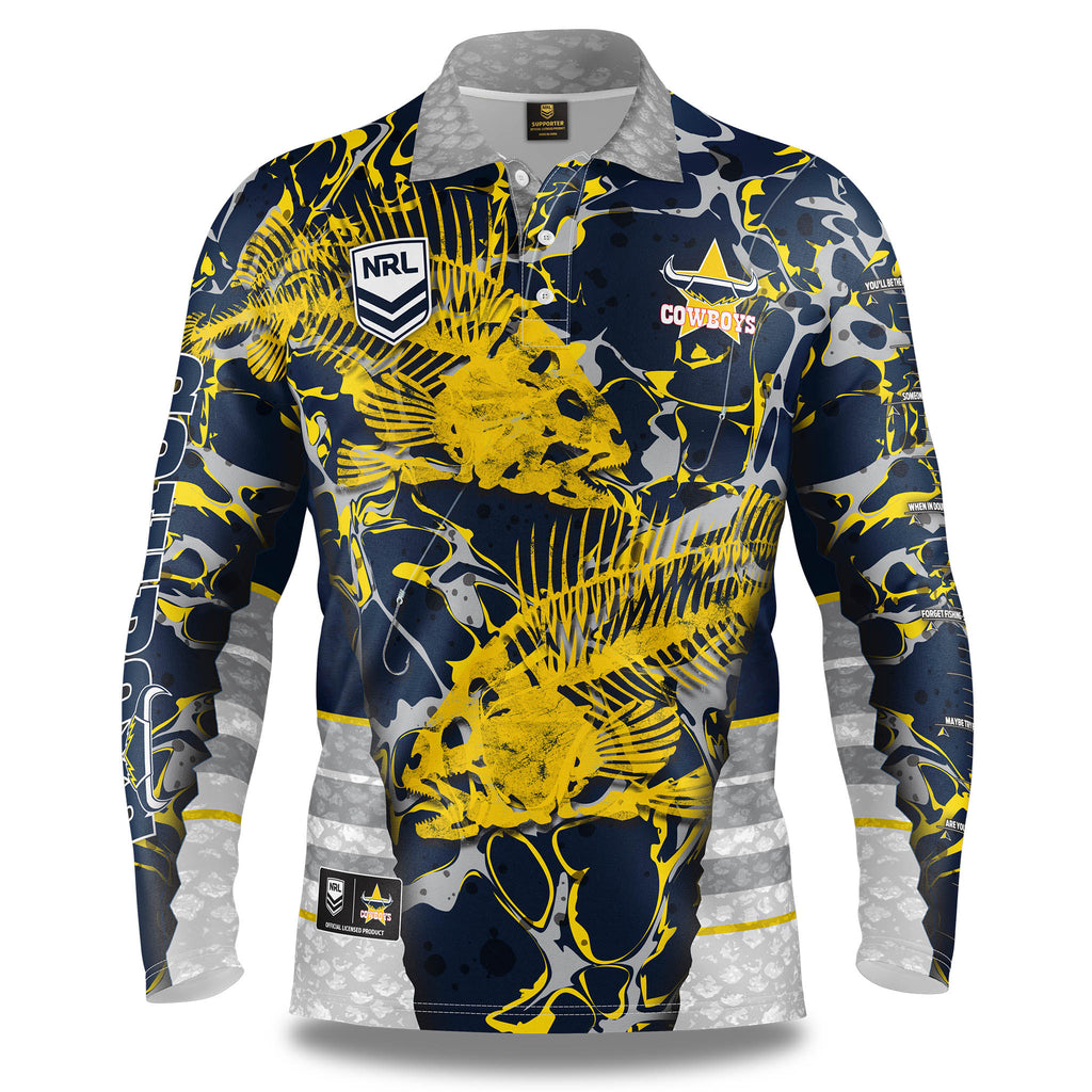 "NRL Cowboys ""Skeletor"" Fishing Shirt - Youth"