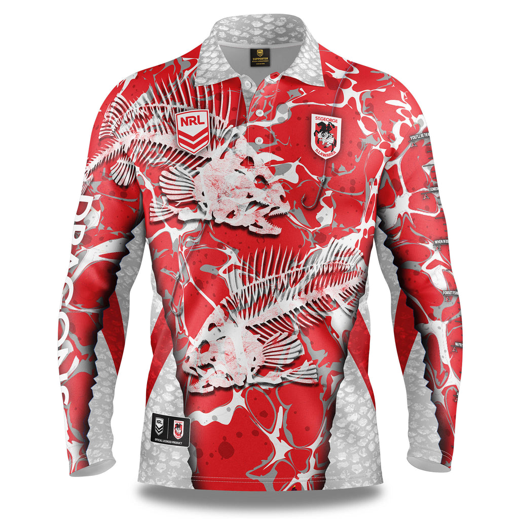 "NRL Dragons ""Skeletor"" Fishing Shirt - Youth"