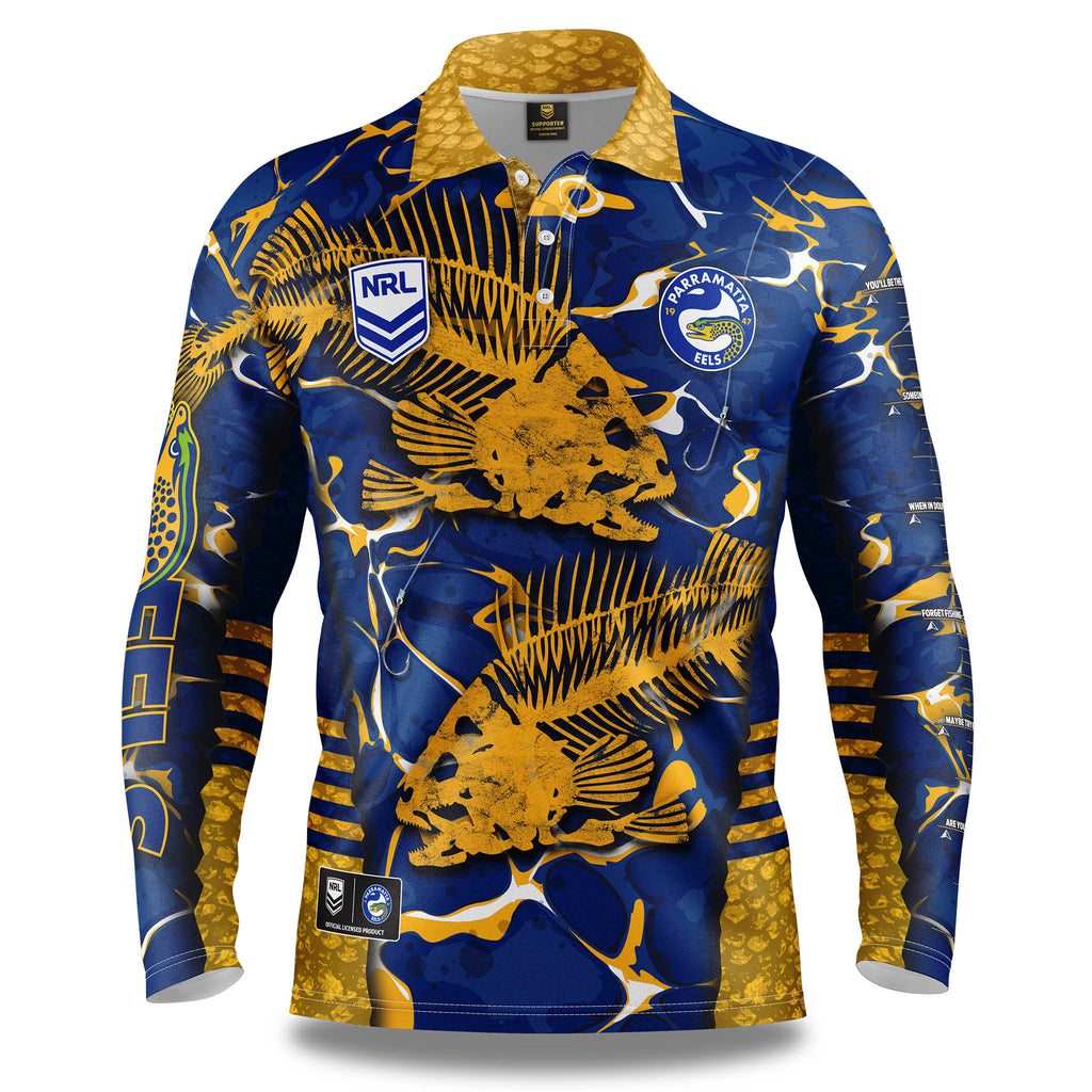 "NRL Eels ""Skeletor"" Fishing Shirt - Adult"