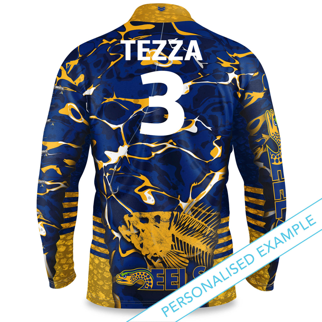 "NRL Eels ""Skeletor"" Fishing Shirt - Youth"