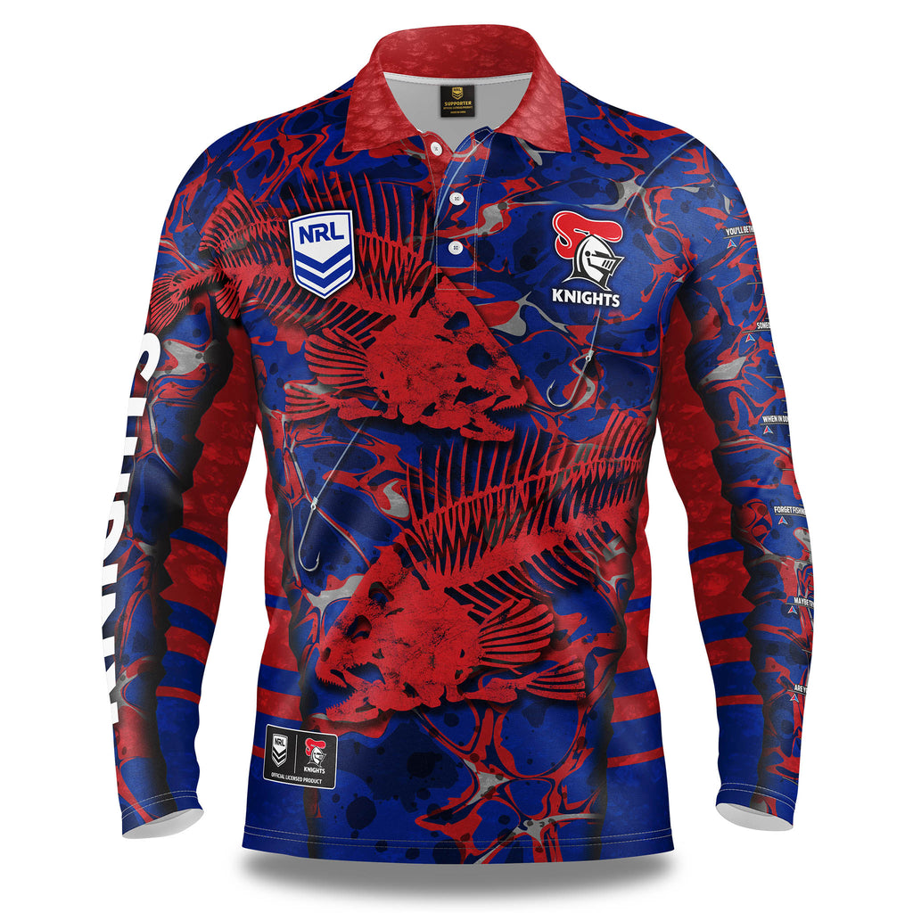 "NRL Knights ""Skeletor"" Fishing Shirt - Youth"