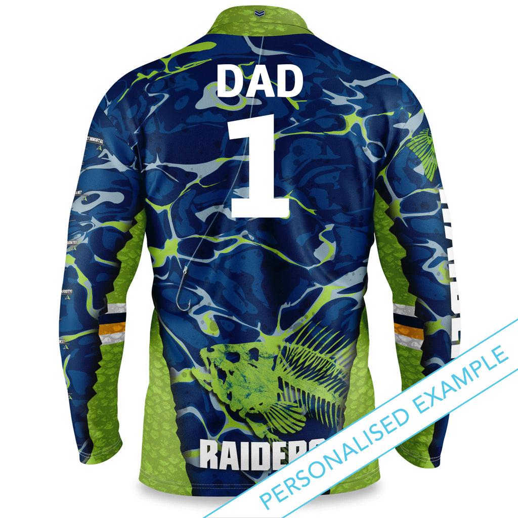 "NRL Raiders ""Skeletor"" Fishing Shirt - Youth"