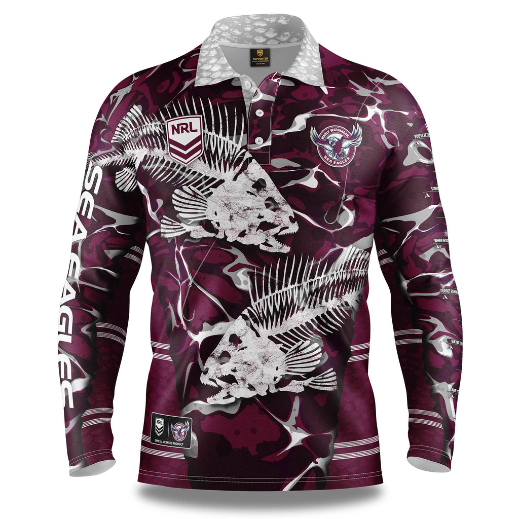 "NRL Sea Eagles ""Skeletor"" Fishing Shirt - Youth"