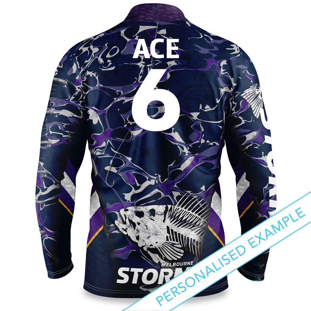 "NRL Storm ""Skeletor"" Fishing Shirt - Adult"