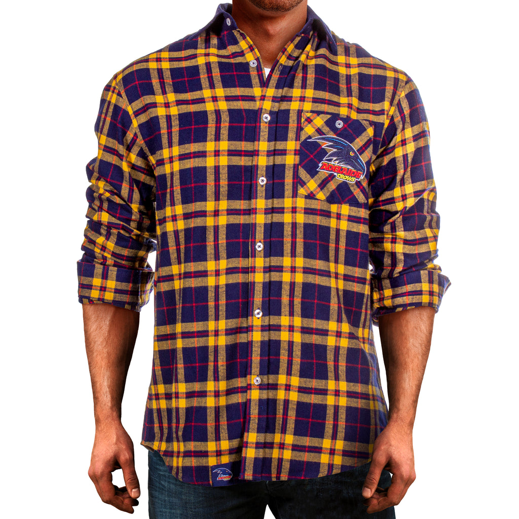 AFL Adelaide Crows Flannel Shirt Ashtabula