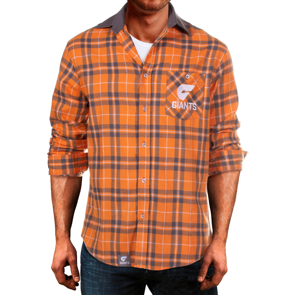 AFL GWS Giants Flannel Shirt Ashtabula