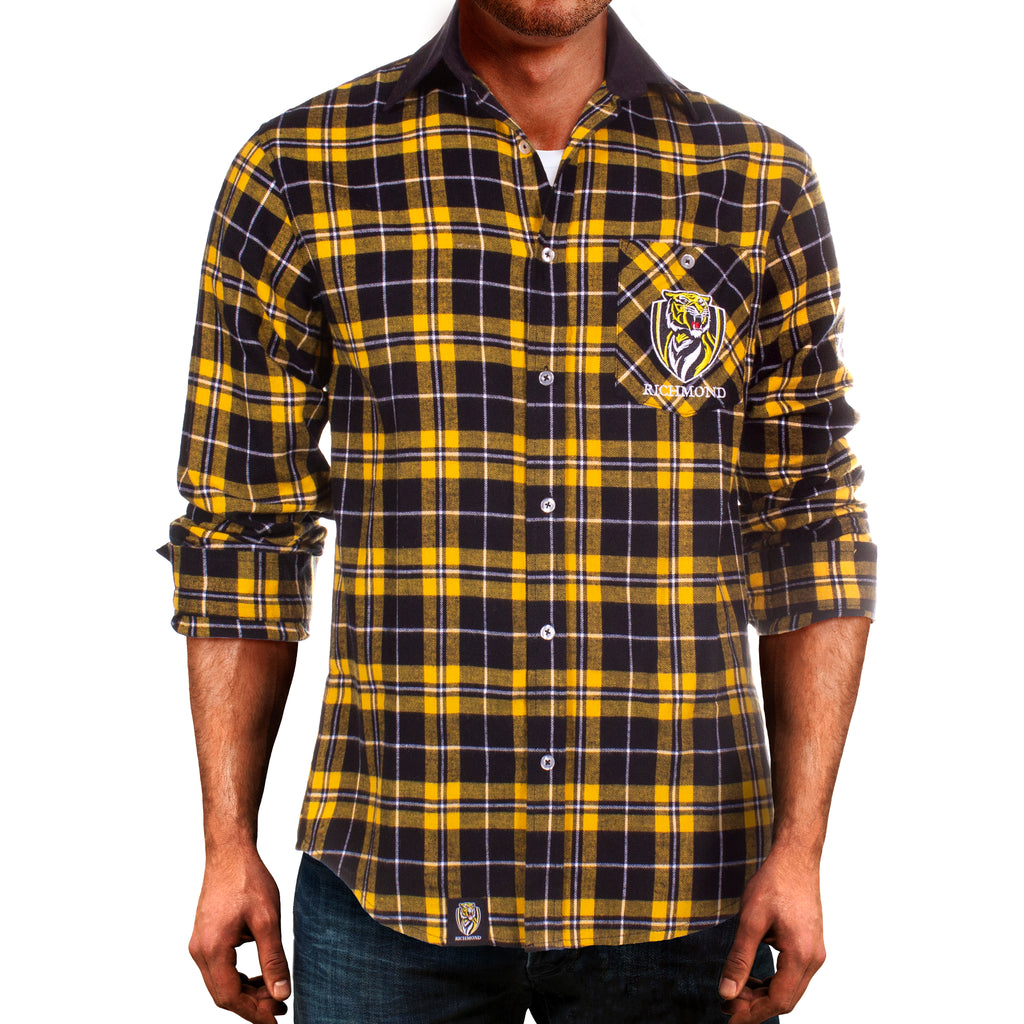 AFL Richmond Tigers Flannel Shirt Ashtabula