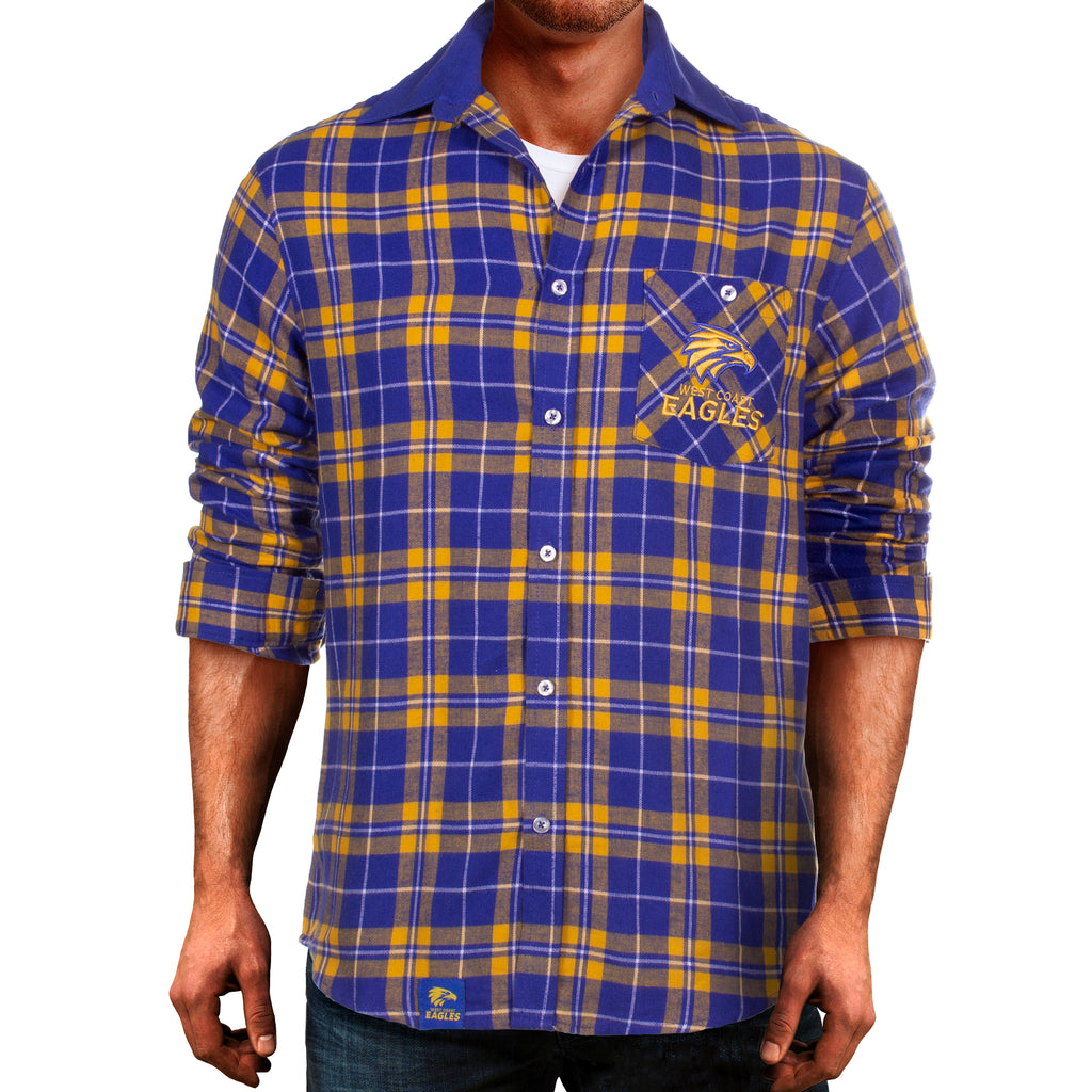 AFL West Coast Eagles Flannel Shirt Ashtabula