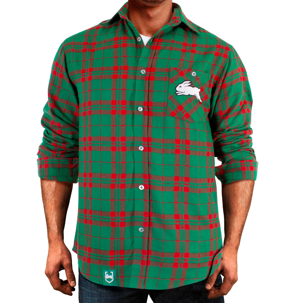NRL Rabbitohs Flannel Shirt