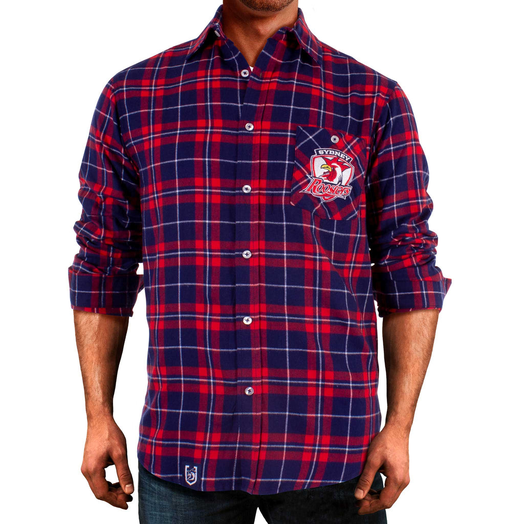 NRL Roosters Flannel Shirt