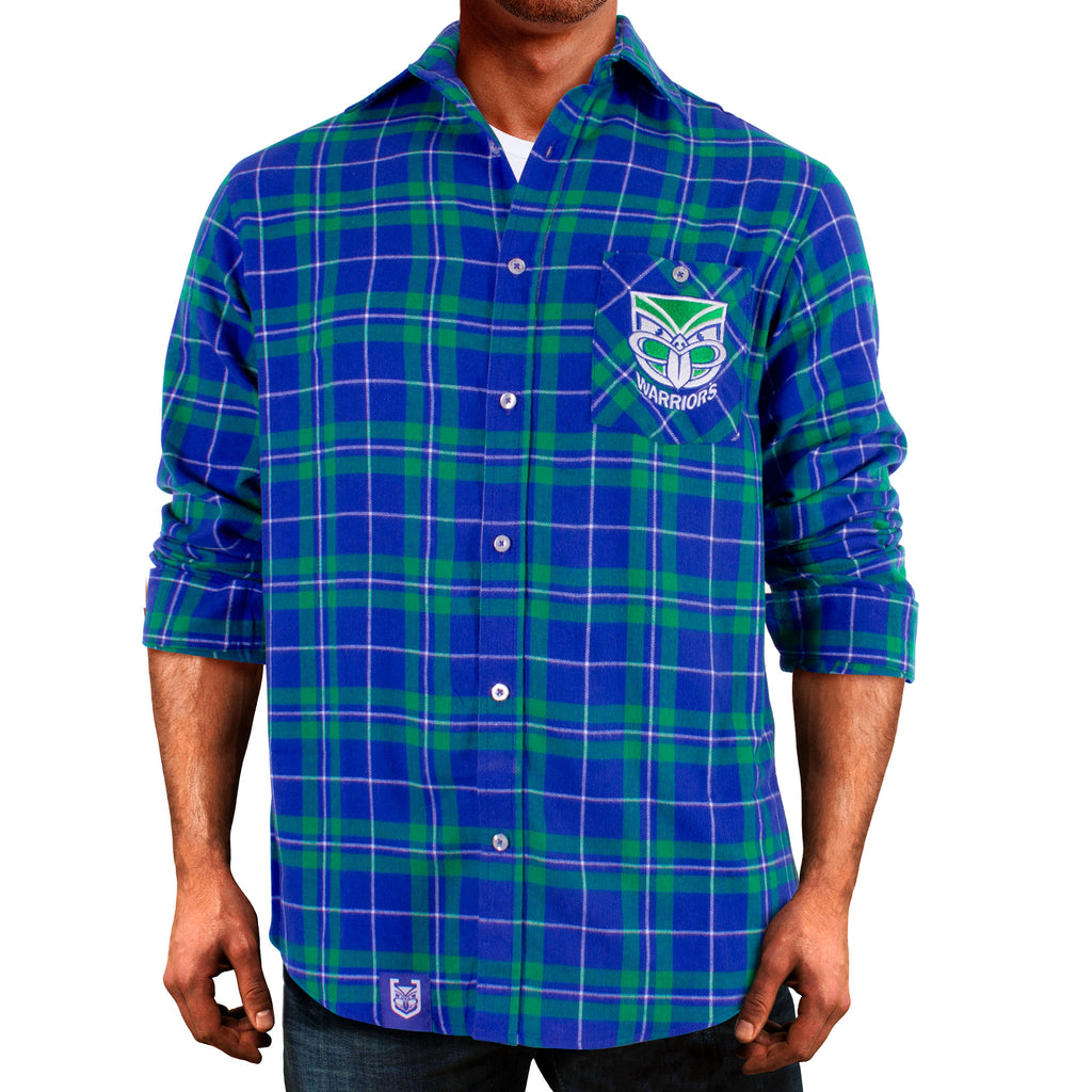 NRL Warriors Flannel Shirt