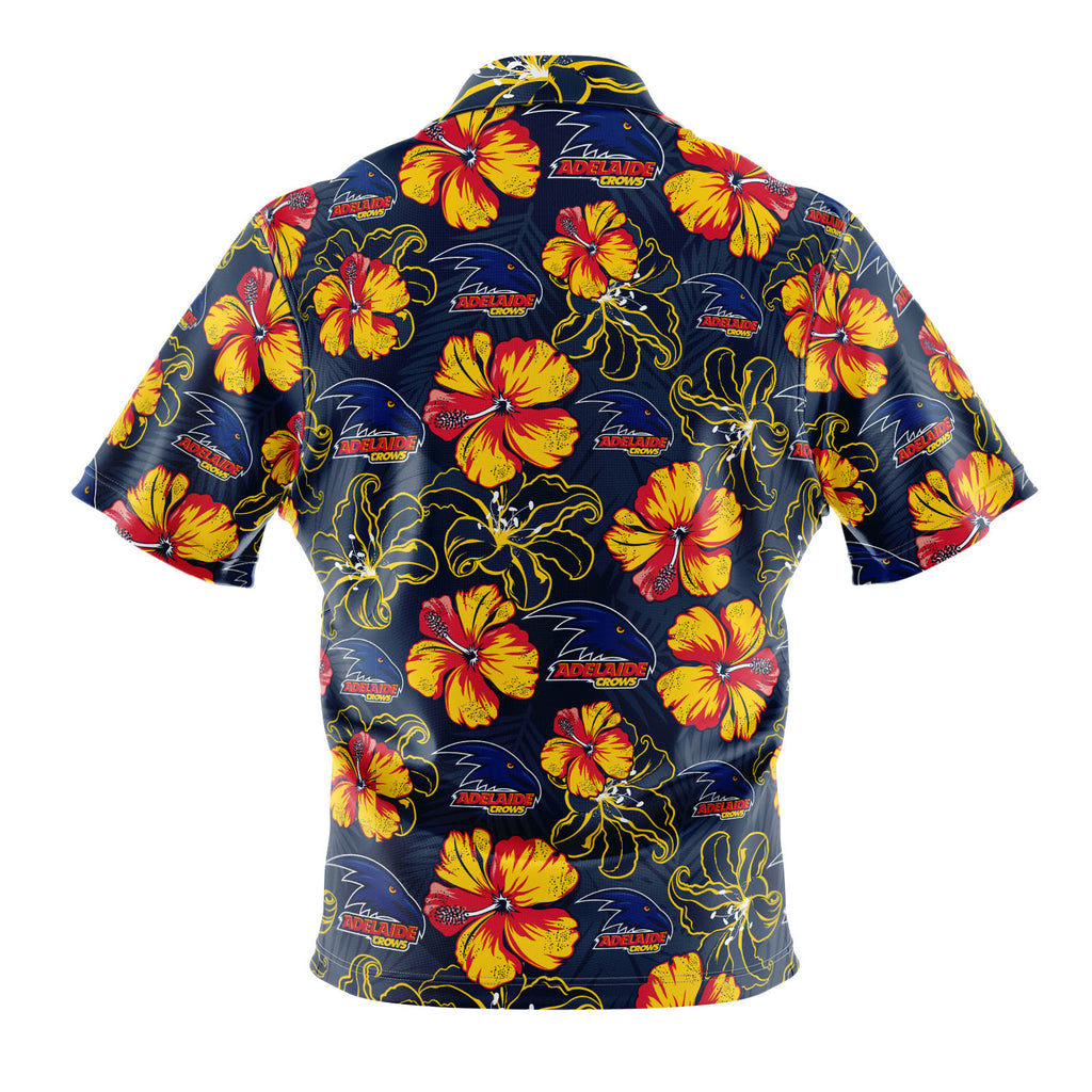 AFL Adelaide Crows 'Floral' Hawaiian Shirt