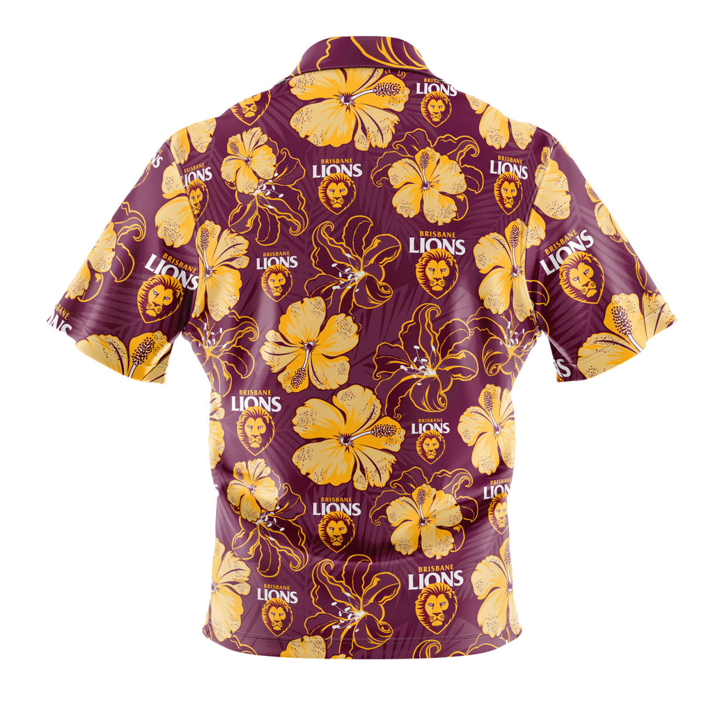 AFL Brisbane Lions 'Floral' Hawaiian Shirt