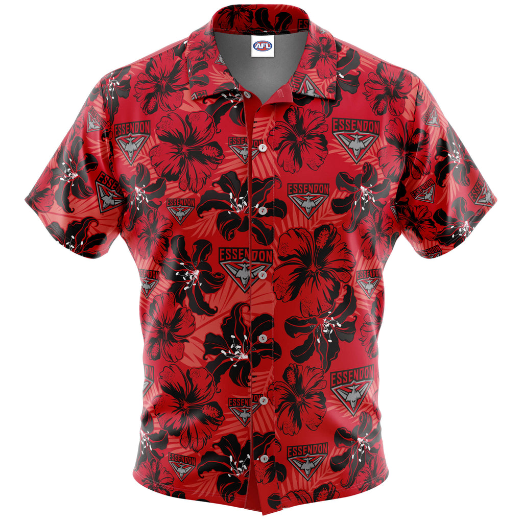 AFL Essendon Bombers 'Floral' Hawaiian Shirt