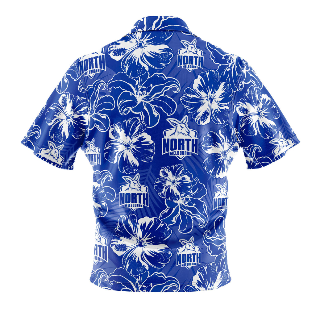 AFL North Melbourne 'Floral' Hawaiian Shirt