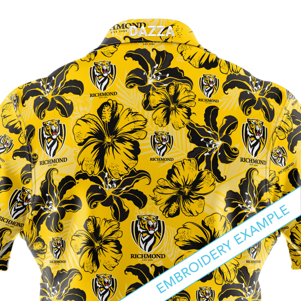 AFL Richmond 'Floral' Hawaiian Shirt