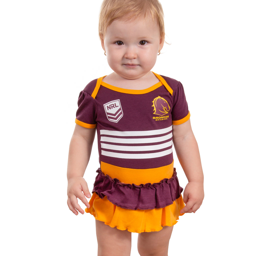 NRL Broncos Girls Footysuit AshTabula