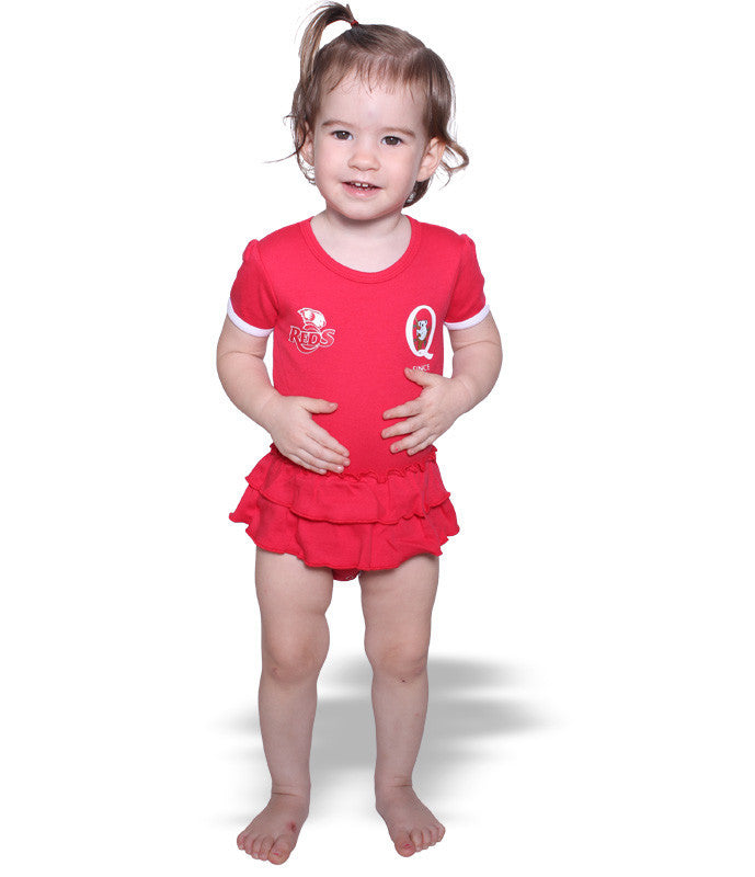 QLD Reds Girls Footysuit AshTabula
