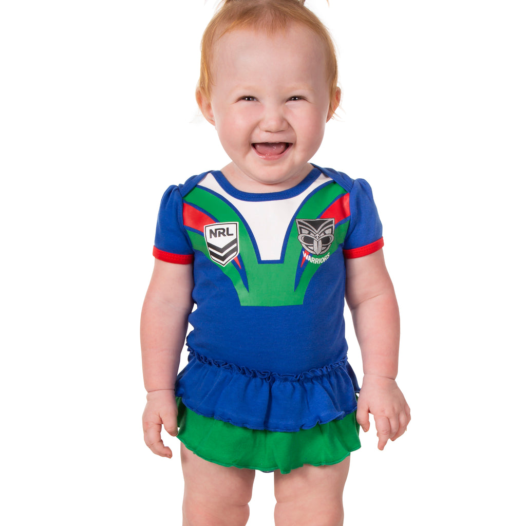 NRL Warriors Girls Footysuit