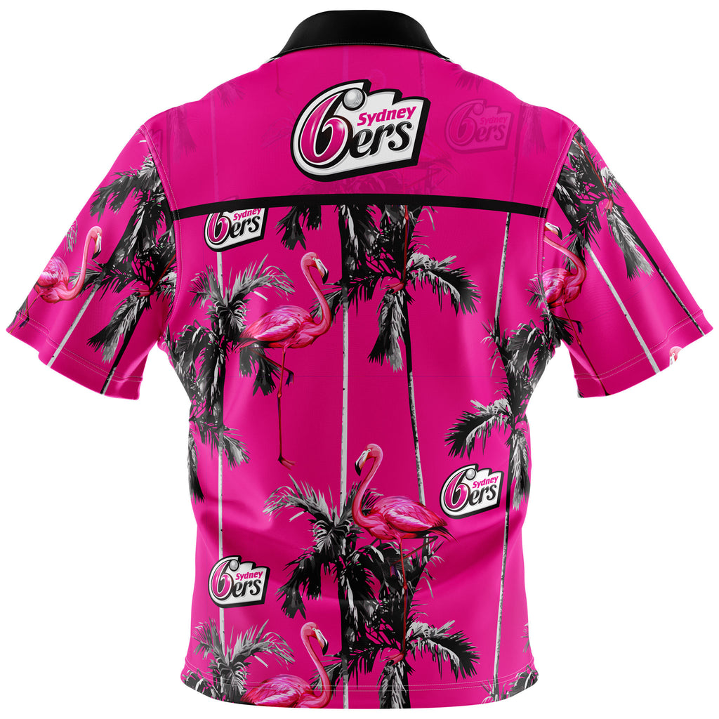 BBL Sydney Sixers Hawaiian Shirt - Adult AshTabula