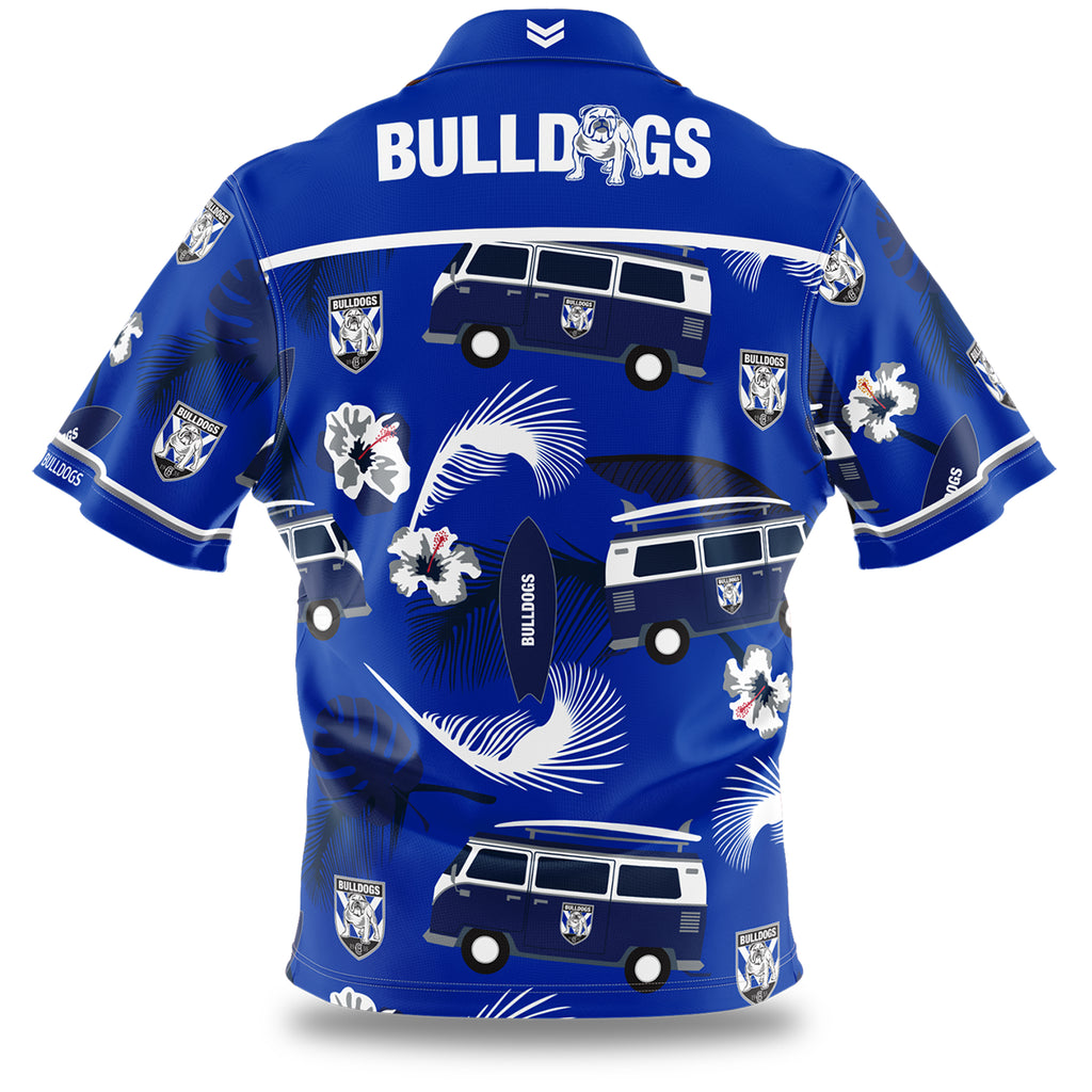 NRL Bulldogs Hawaiian Shirts AshTabula
