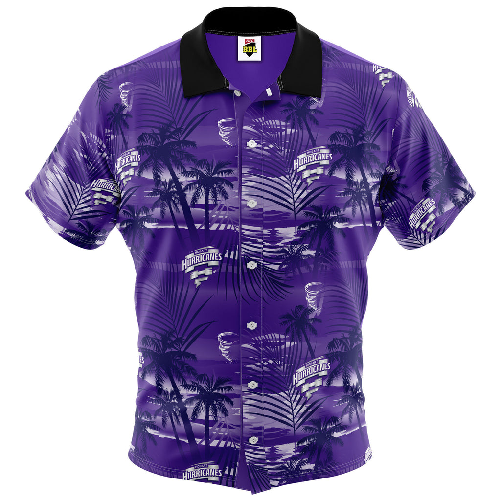 BBL Hobart Hurricanes Hawaiian Shirt - Adult AshTabula