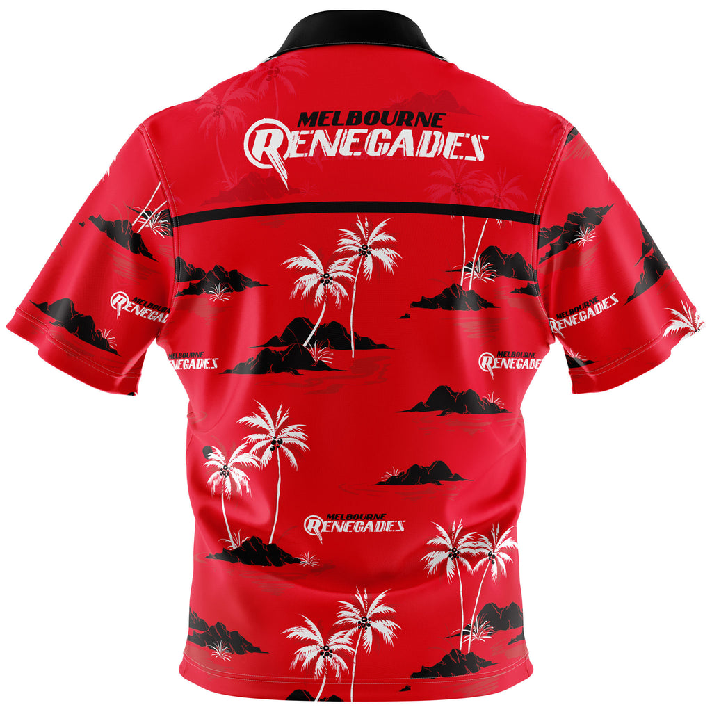 BBL Melbourne Renegades Hawaiian Shirt - Youth AshTabula