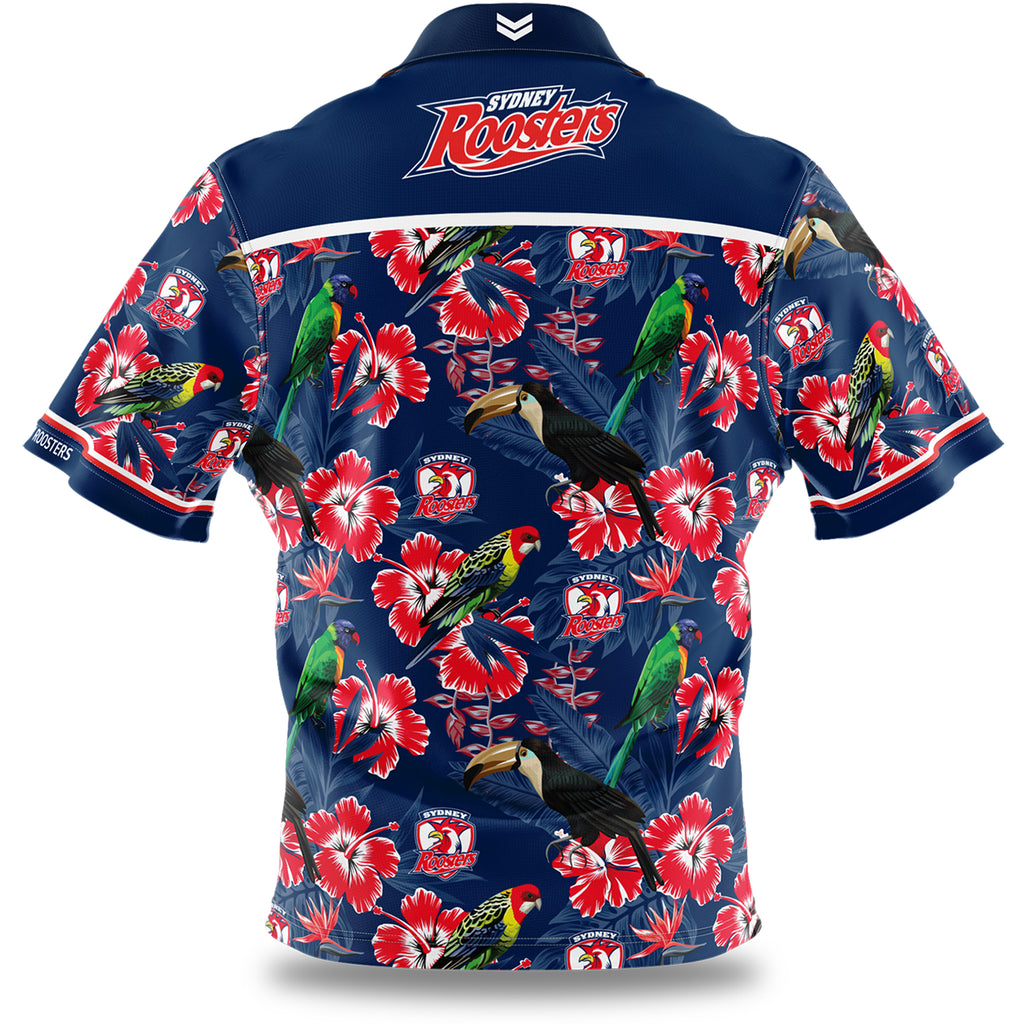 NRL Roosters Hawaiian Shirt - Youth Ashtabula