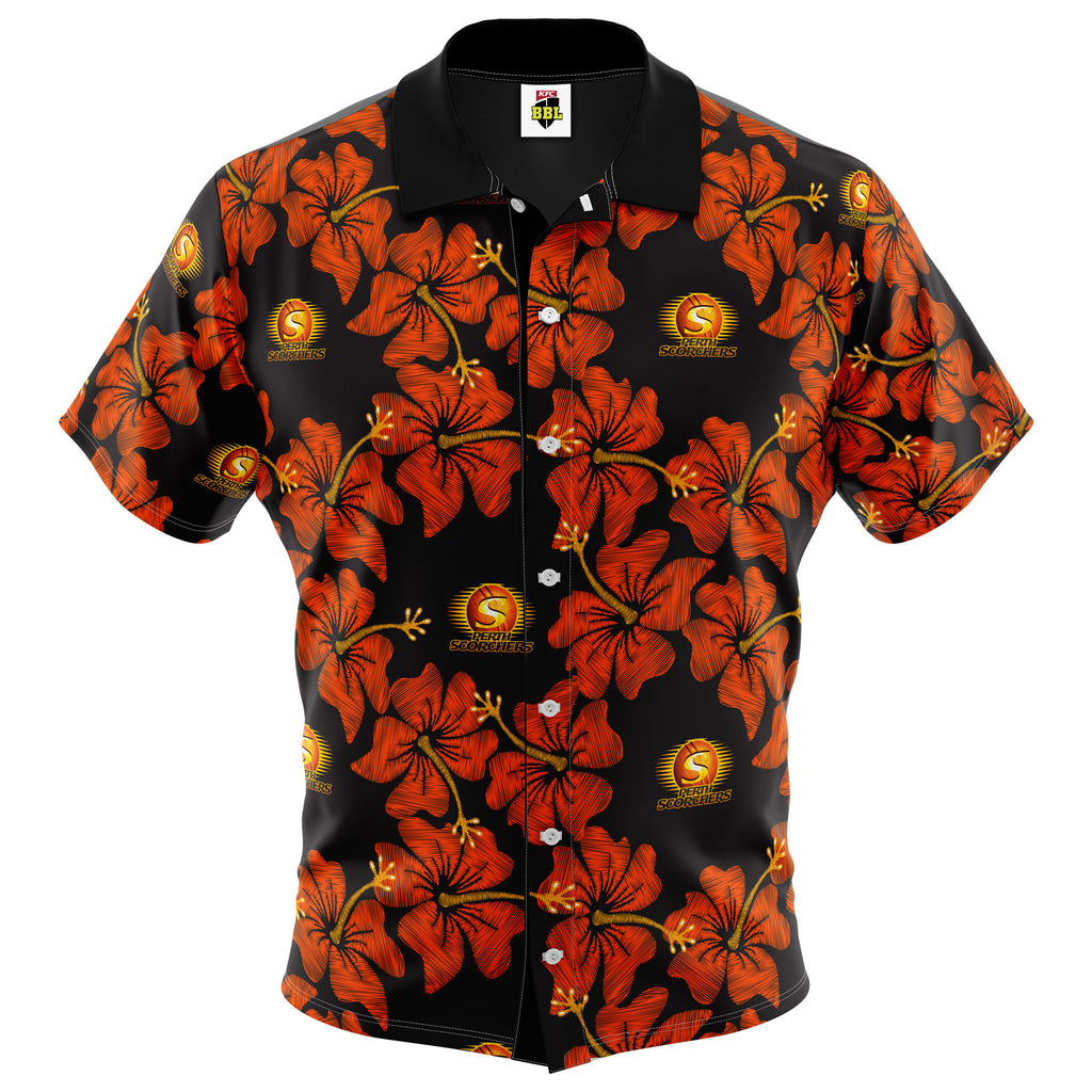 BBL Perth Scorchers Hawaiian Shirt - Youth AshTabula