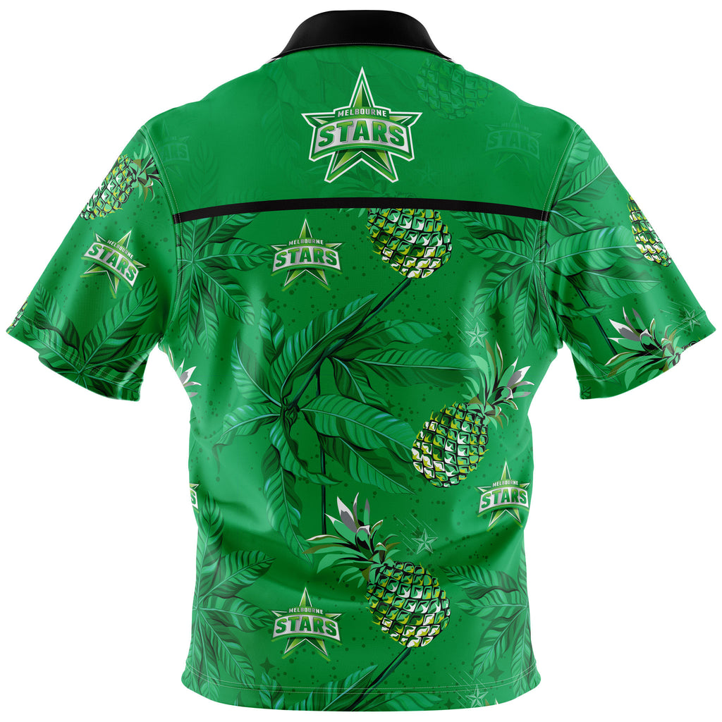 BBL Melbourne Stars Hawaiian Shirt - Adult AshTabula