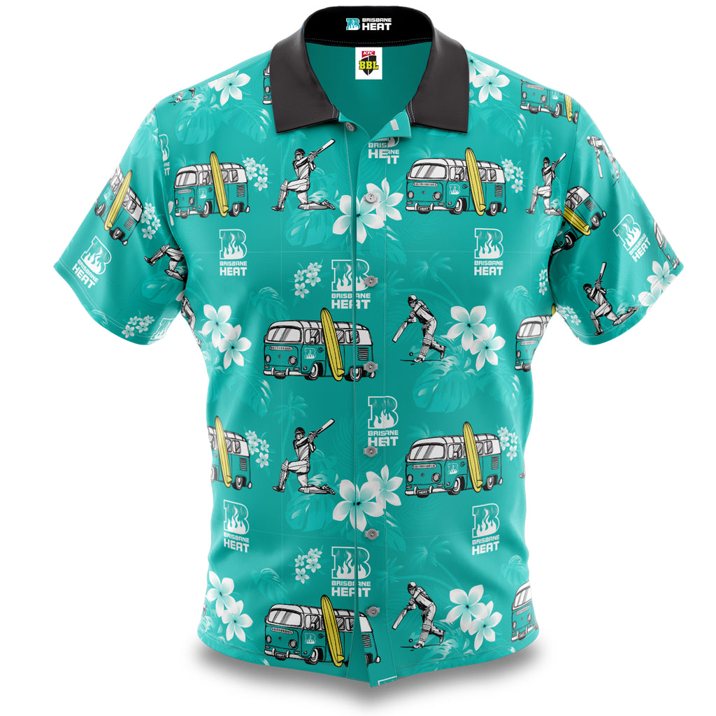 BBL Brisbane Heat Hawaiian Shirt