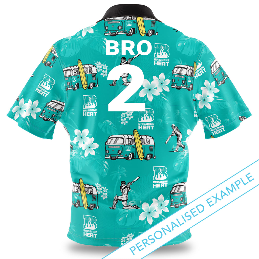 BBL Brisbane Heat Hawaiian Shirt Ashtabula