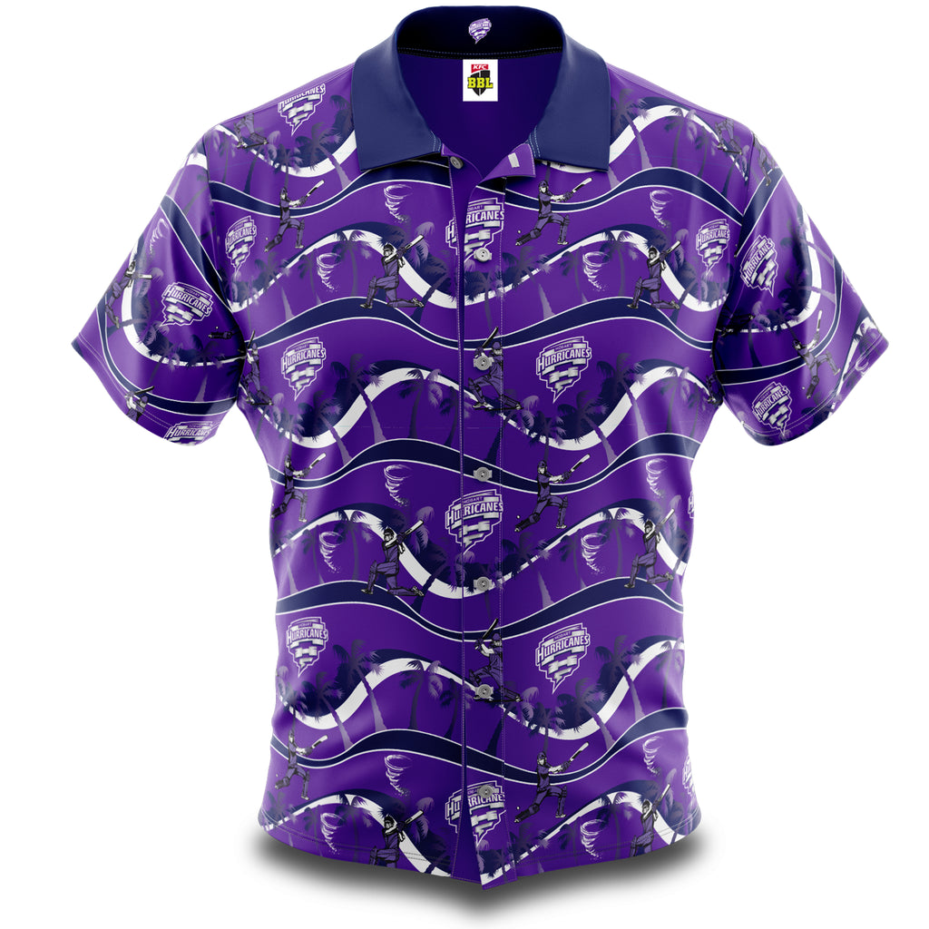 BBL Hobart Hurricanes Hawaiian Shirt