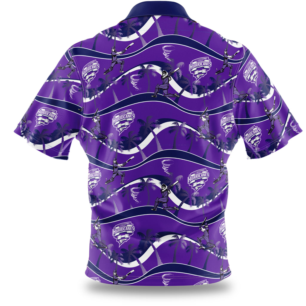 BBL Hobart Hurricanes Hawaiian Shirt Ashtabula