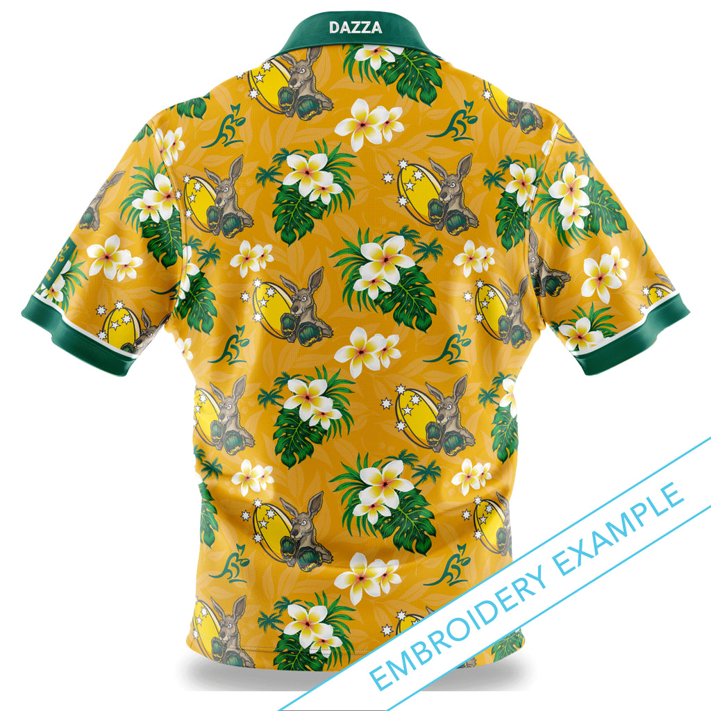 Wallabies Australiana Hawaiian Shirt - Adult Ashtabula